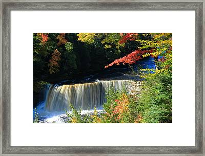 Tahquamenon Falls Autumn Framed Print by Rachel Cohen