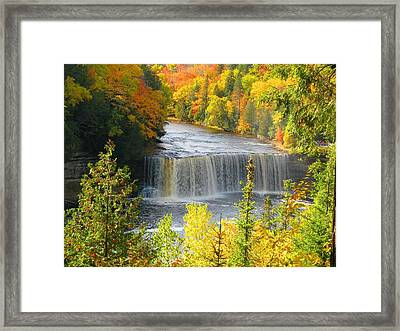 Tahquamenon Falls In October Framed Print by Keith Stokes