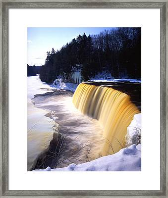 Tahquamenon Falls Framed Print by Ray Mathis