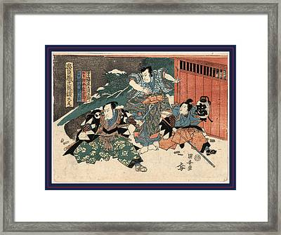 Taibi, Epilogue Of The Chushingura. Between 1815 And 1818 Framed Print by Kuniyasu, Utagawa (1794-1832), Japanese