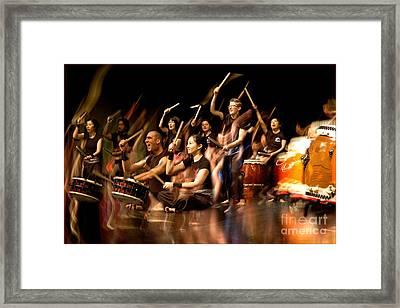 Taiko Flow Framed Print