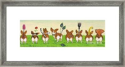 Tail Competition Framed Print