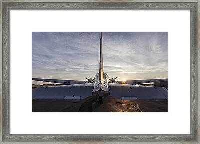 Tail End Of The Sunrise Framed Print