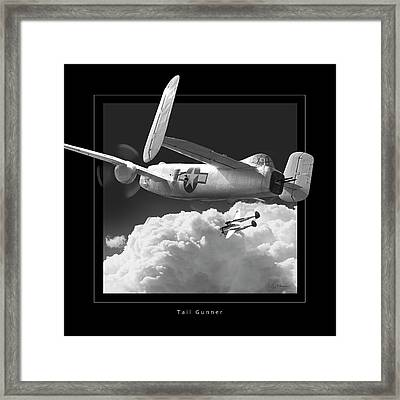 Tail Gunner Framed Print by Larry McManus