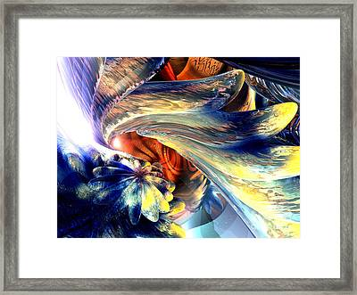 Tailed Beast Abstract Framed Print by Alexander Butler