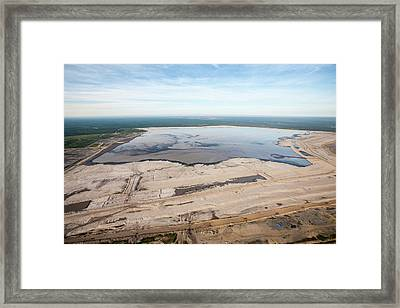 Tailings Pond Framed Print by Ashley Cooper