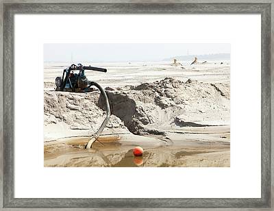 Tailings Pond At The Syncrude Mine Framed Print