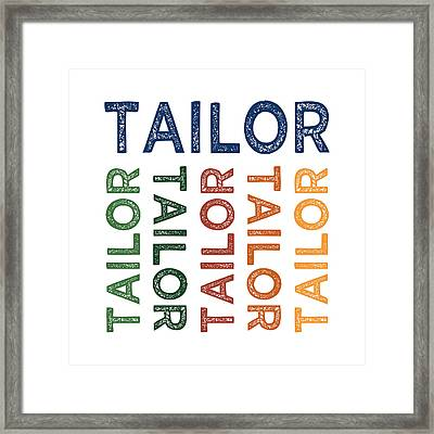 Tailor Cute Colorful Framed Print by Flo Karp