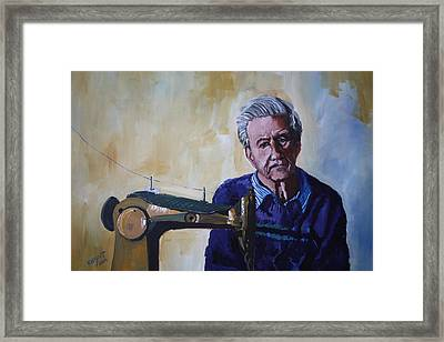 Tailor From Tel-aviv Framed Print by Marwan  Khayat