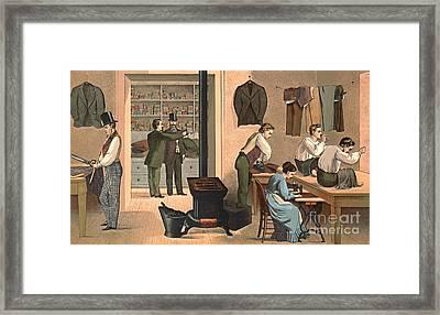 Tailor Shop 1874 Framed Print