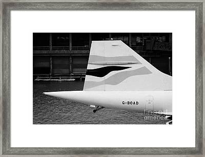 tailplane of the British Airways Concorde  Framed Print by Joe Fox