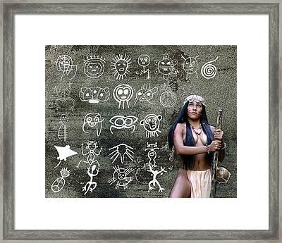 Taino Petroglyphs Framed Print by Koa Feliciano