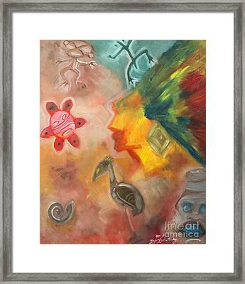 Taino Symbol Framed Print