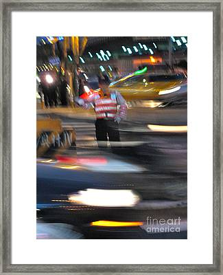 Taipei Traffic Framed Print