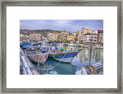 Taiwan Boats Framed Print