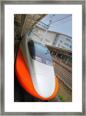 Taiwan Bullet Train Framed Print