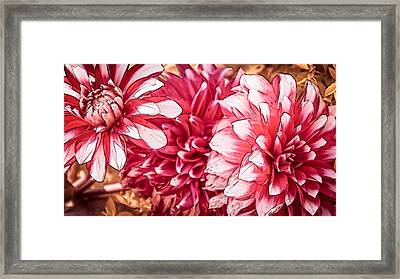 Japanese Autumn Poetry Framed Print