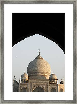 Taj And Arch Framed Print