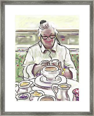 Taj Breakfast Framed Print