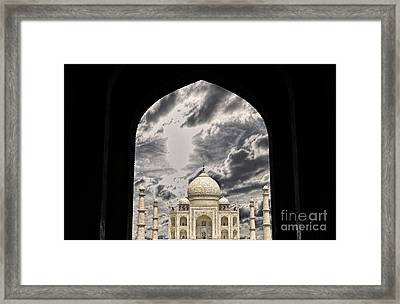 Taj Mahal -a Monument Of Love Framed Print by Vineesh Edakkara
