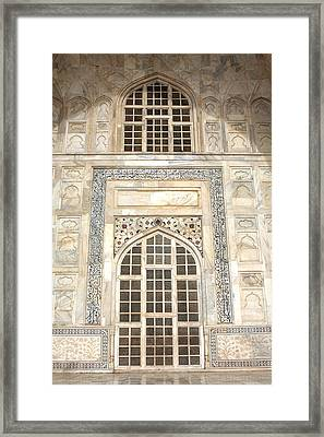 Taj Mahal Facade - Agra - India Framed Print by Aidan Moran