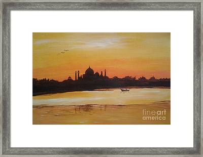taj Mahal in the morning Framed Print
