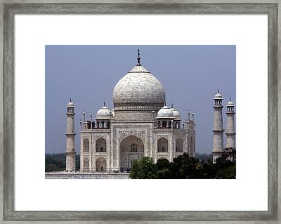 Taj Mahal - Agra - India  Framed Print by Aidan Moran