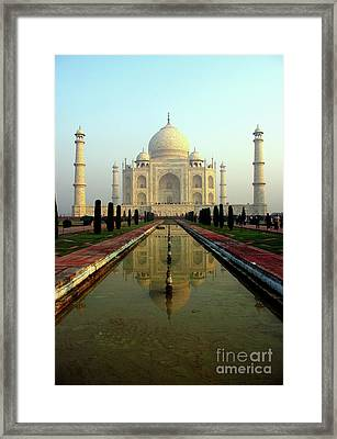 Framed Print featuring the photograph Taj Mahal by Jacqi Elmslie