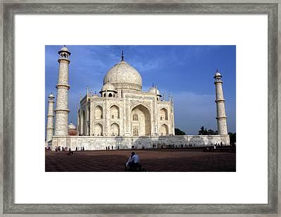 Taj Mahal Love Framed Print by Aidan Moran