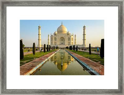 Taj Mahal Framed Print by R M Guijt
