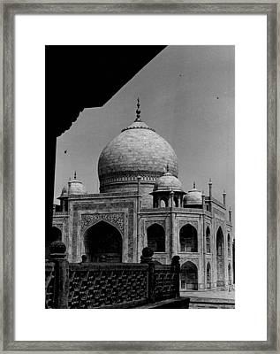Taj Mahal Side View Framed Print