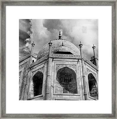 Taj Mahal Fantastic Upward View Framed Print