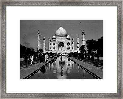 Taj Mahal View From The Front Framed Print