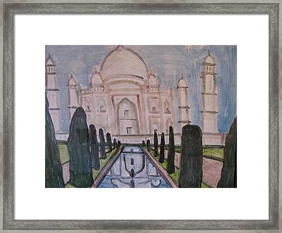 Framed Print featuring the painting Taj Mahal by Vikram Singh