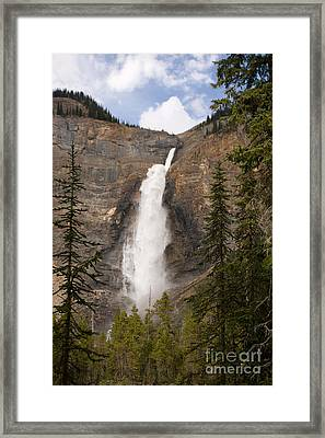 Framed Print featuring the photograph Takakkaw Falls by Chris Scroggins