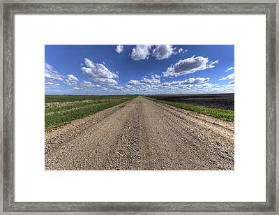Take A Back Road Framed Print by Aaron J Groen