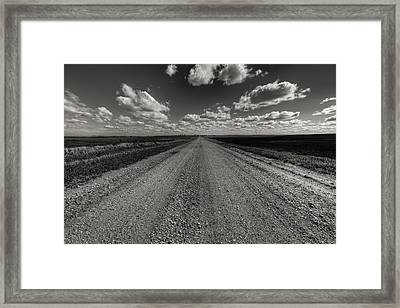 Take A Back Road Bnw Version Framed Print by Aaron J Groen