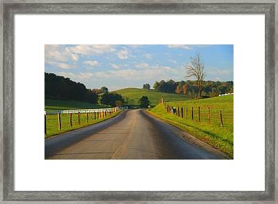 Take A Back Road Framed Print