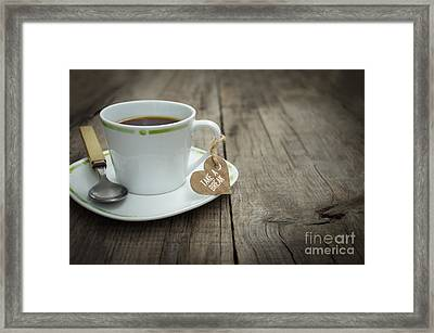 Take A Break Coffee Cup Framed Print