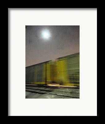 Images Of Fast Moving Speeding Vehicles Trains At Night Framed Prints
