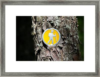 Take A Hike Framed Print by Allan Morrison