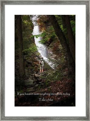 Take A Hike Framed Print by Bill Wakeley