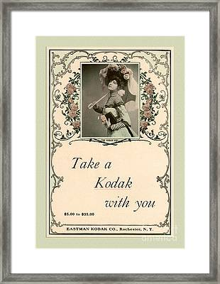 Take A Kodak With You Framed Print by Anne Kitzman