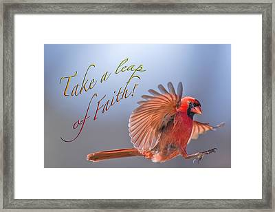 Take A Leap Of Faith Framed Print by Bonnie Barry