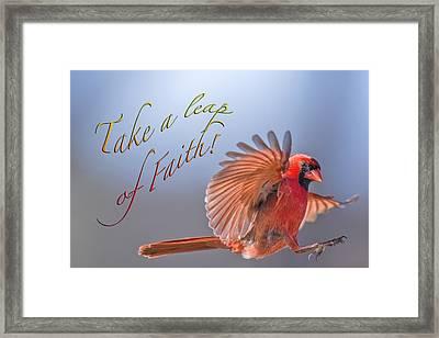 Take A Leap Of Faith Framed Print