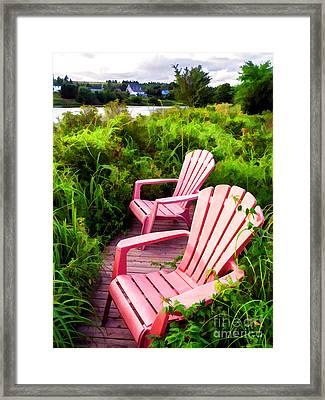Take A Load Off Framed Print by Edward Fielding