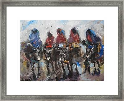 Take A Ride Framed Print by Negoud Dahab
