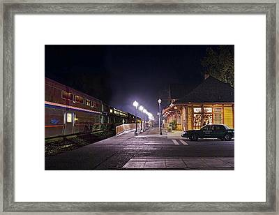 Take A Ride On Amtrak Framed Print by Abram House