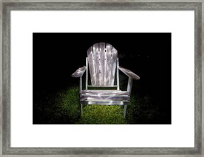 Adirondack Chair Painted With Light Framed Print