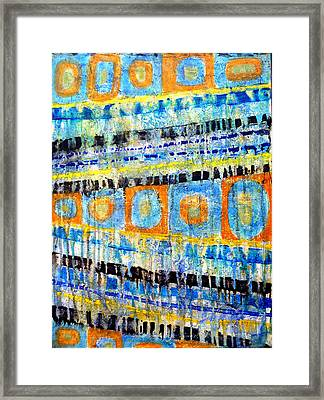 Framed Print featuring the painting Take Five by Jim Whalen